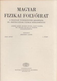 Jánossy Lajos - Magyar fizikai folyóirat XXIII. kötet 1. füzet [antikvár]