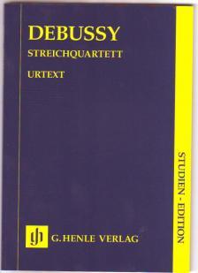DEBUSSY - STREICHQUARTETT STUDIENPARTITUR URTEXT, HERAUSGEGEBEN VON ULRICH KRAEMER