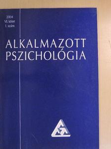Balogh László - Alkalmazott pszichológia 2004/1. [antikvár]