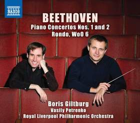 BEETHOVEN - PIANO CONCERTOS NOS.1 AND 2 CD GILTBURG & PETRENKO