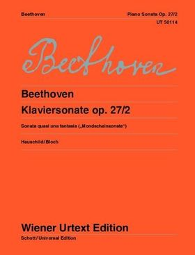 "BEETHOVEN - KLAVIERSONATE OP. 27/2 - ""MONDSCHEINSONATE"" (HAUSCHILD, REUTTER, BLOCH, CZERNY)"