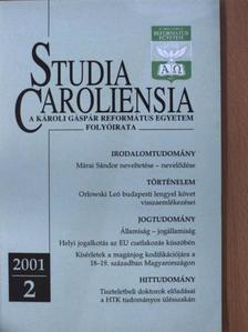 Albert de Pury - Studia Caroliensia 2001/2. [antikvár]