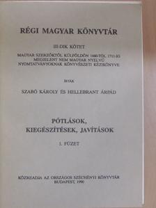 Szabó Károly - Régi Magyar Könyvtár III/1. (töredék) [antikvár]