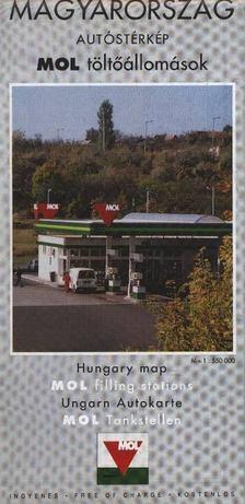 Magyarország autóstérkép MOL tötőállomások [antikvár]