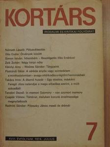 Apáti Miklós - Kortárs 1974. július [antikvár]