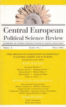 Simon János  (szerk.) - Central European Political Science Review vol. 3. no. 10 [antikvár]