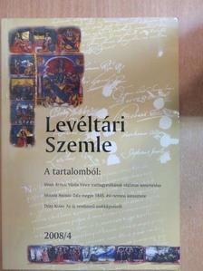 Dóka Klára - Levéltári Szemle 2008/4. [antikvár]