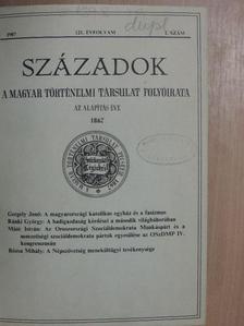 A. A. Gorszkij - Századok 1987. (nem teljes évfolyam) [antikvár]