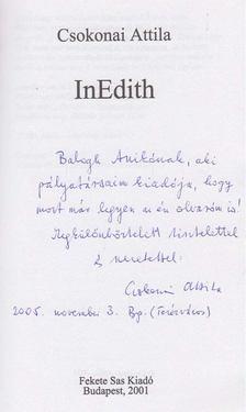 Csokonai Attila - InEdith (dedikált) [antikvár]