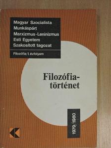 Dr. Szolnoki János - Filozófiatörténet 1979/1980. [antikvár]