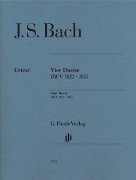 J. S. Bach - VIER DUETTE BWV 802-805 FÜR KLAVIER URTEXT (RUDOLF STEGLICH)