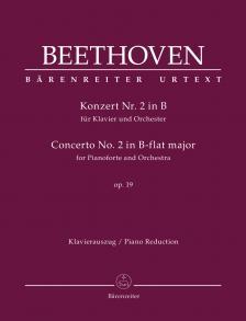 BEETHOVEN - KONZERT NR.2 IN B FÜR KLAVIER UND ORCHESTER OP.19. KLAVIERAUSZUG