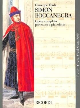 Verdi - SIMON BOCCANEGRA PER CANTO E PIANOFORTE - KLAVIERAUSZUG