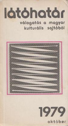 Szabolcsi Miklós - Látóhatár 1979.  Október [antikvár]
