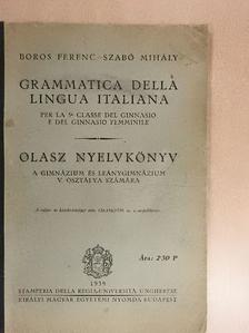 Boros Ferenc - Grammatica della lingua italiana [antikvár]
