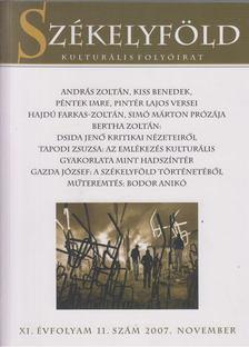 Ferenczes István - Székelyföld 2007. November XI. évfolyam 11. szám [antikvár]