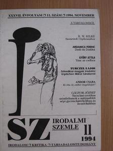 Andor Csaba - Irodalmi Szemle 1994. november [antikvár]