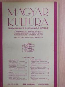Balassa Imre - Magyar Kultúra 1934. november 5. [antikvár]