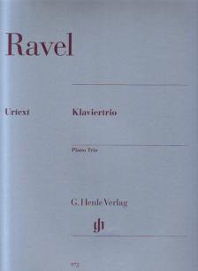 RAVEL... - KLAVIERTRIO URTEXT PARTITUR UND STIMMEN (PETER JOST / PASCAL ROGÉ)