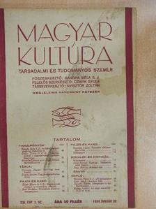 Bangha Béla S. J. - Magyar Kultúra 1934. január 20. [antikvár]