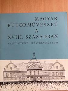 Szabolcsi Hedvig - Magyar bútorművészet a XVIII. században [antikvár]