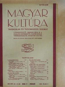 Barta István - Magyar Kultúra 1934. július 5. [antikvár]
