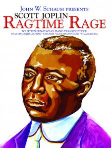 JOPLIN - RAGTIME RAGE. FOURTEEN FUN-TO-PLAY PIANO TRANSCIOPTIONS, SUGG. FOR USE OF CHORDS AT PIANO AND ORGAN