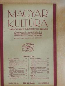 B. J. - Magyar Kultúra 1934. október 20. [antikvár]