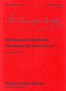 MENDELSSOHN - VARIATIONS SÉRIEUSES OP.54 FÜR KLAVIER WIENER URTEXT EDITION (KUBE / ROGGENKAMP)