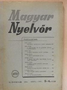 Angyal Endre - Magyar Nyelvőr 1954. szeptember-december [antikvár]