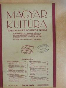 Balassa Imre - Magyar Kultúra 1934. november 20. [antikvár]