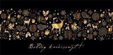 15163 - Képeslap borítékos LA/4, aranyozott, ezüstözött, zsebes, karácsonyi ZSAK20