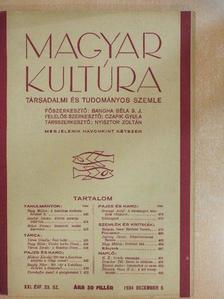 Balassa Imre - Magyar Kultúra 1934. december 5. [antikvár]