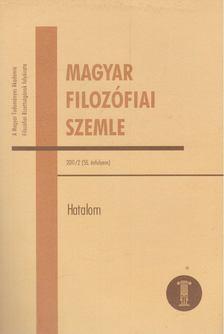 Schmal Dániel - Magyar Filozófiai Szemle 2011/2 [antikvár]