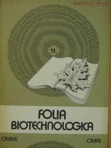 Gergely János - Folia Biotechnologica 11. [antikvár]