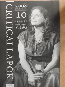 Balogh Géza - Criticai lapok 2008. október [antikvár]