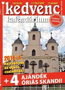 CSOSCH KIADÓ - Kedvenc Kalendárium 2016/4.