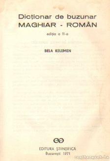KELEMEN BÉLA - Dictionar de buzunar maghiar-roman [antikvár]