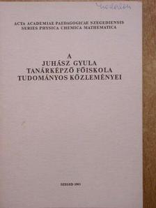 Halász Gábor - A Juhász Gyula Tanárképző Főiskola tudományos közleményei [antikvár]