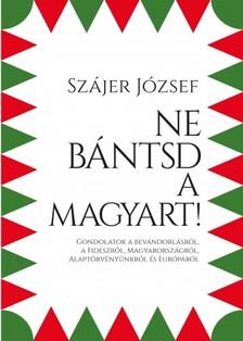 Szájer József - Ne bántsd a magyart! - Gondolatok a bevándorlásról, a Fideszről, Magyarországról, Alaptörvényünkről és Európáról [eKönyv: epub, mobi]
