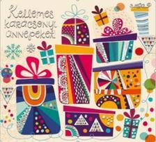 6555 - Képeslap borítékos, aranyozott, ezüstözöt, négyzetes (13x13) karácsonyi KNA16