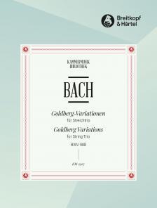 J. S. Bach - ARIA MIT VERSCHIEDENEN VERAENDERUNGEN (GOLDBERG-VARIATIONEN) BWV 988 FÜR STREICHTRIO (PART.+STIMMEN)