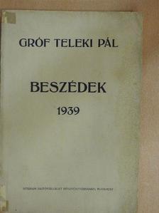 gróf Teleki Pál - Beszédek 1939 [antikvár]