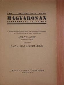 Hegedűs Loránt - Magyarosan 1933. január-február [antikvár]