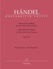 HAENDEL - KONZERT IN g-MOLL FÜR FLÖTE (OBOE) UND ORCHESTER HWV 287 KLAVIERAUSZUG