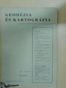 Bors Károly - Geodézia és Kartográfia 1959/4. [antikvár]