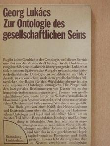 Georg Lukács - Zur Ontologie des gesellschaftlichen Seins [antikvár]