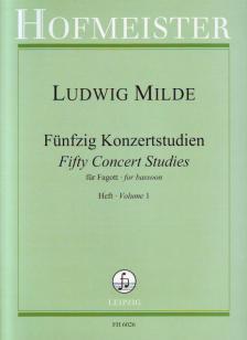 MILDE, LUDWIG - FÜNFZIG KONZERTSTUDIEN FÜR FAGOTT OP.26 HEFT 1