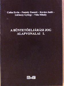 Cséka Ervin - A büntetőeljárási jog alapvonalai I. [antikvár]