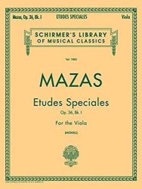 MAZAS - ETUDES SPECIALES OP.36, BK.I FOR THE VIOLA (MOGILL)